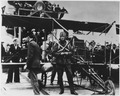 E.B. Ely and his flying machine on U.S.S. Pennsylvania. - NARA - 295612.tif