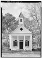 EAST (FRONT) FACADE - Church of the Epiphany, Intersection S-38-1132 and S-38-1133, Eutawville, Orangeburg County, SC HABS SC,38-EUTV,1-3.tif