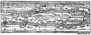 Fig. 5.—A Section of Peutinger's Tabula.