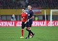 EM-Qualifikationsspiel Österreich-Russland 2014-11-15 063 Martin Atkinson Christoph Leitgeb.jpg