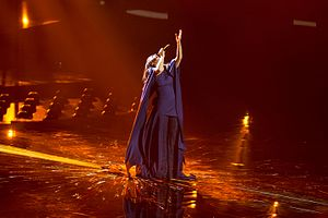 Ukraine in the Eurovision Song Contest 2016 - Jamala during a rehearsal before the second semi-final