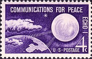 U.S. space exploration history on U.S. stamps -  ECHO I, Issue of 1960