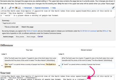 Help Edit Conflict Wikipedia