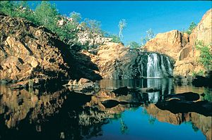 Katherine, Northern Territory - Edith Falls at the end of the wet season