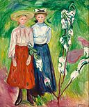 Edvard Munch - 1905 - Two Girls under an Apple Tree in Bloom - Boijmans 2426 (MK).jpg