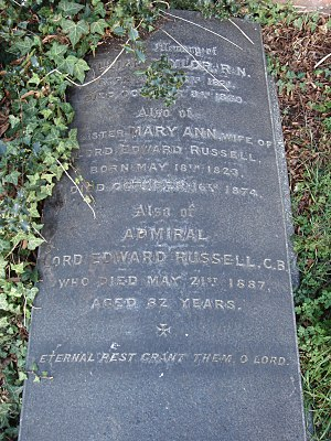 Lord Edward Russell - Funerary monument, Brompton Cemetery, London