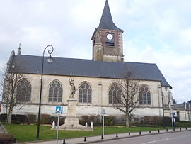 The church in Isneauville