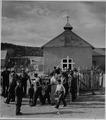 El Cerrito, San Miguel County, New Mexico. El Cerrito is of course a Catholic village, and the chur . . . - NARA - 521218.tif