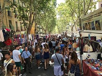 El Rastro - The market in 2016