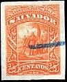 El Salvador 1892 25c Seebeck essay orange.jpg