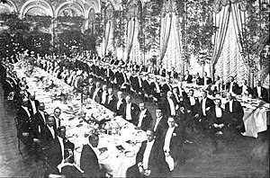 Waldorf Astoria New York - Banquet for Elbert Henry Gary, a founder of US Steel (1909)