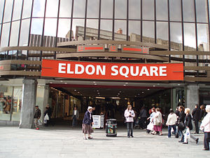 Eldon Square Shopping Centre - The previous Northumberland Street entrance to intu Eldon Square, now redeveloped.