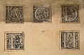 Eleven decorated initials from the Basel 1555 edition Wellcome V0010434.jpg