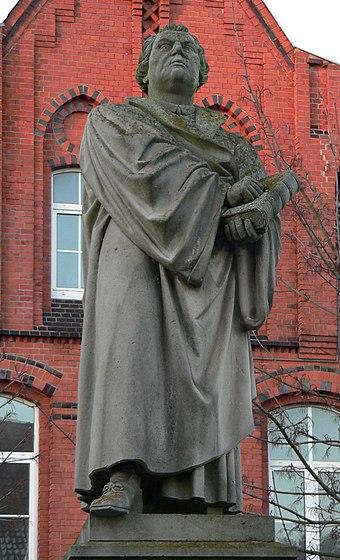 bronziert Statue Martin Luther 27cm Reformer Figurine 17cm Luther year 2017 Luther