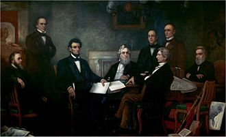 Union (American Civil War) - Lincoln met with his Cabinet for the first reading of the Emancipation Proclamation draft on July 22, 1862