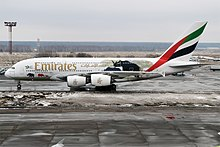 Emirates (United for Wildlife livery), A6-EER, Airbus A380-861 (27680740049).jpg