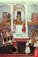 Emperor Shah Jahan and Prince Alamgir (Aurangzeb) in Mughal Court, 1650.jpg