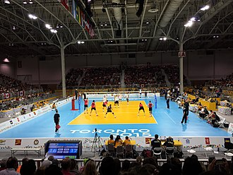 Enercare Centre - Enercare Centre Hall A hosting the volleyball competition during the Toronto 2015 Pan American Games