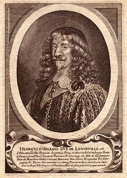 Engraving of Henri d'Orléans, Duke of Longueville in circa 1640.jpg
