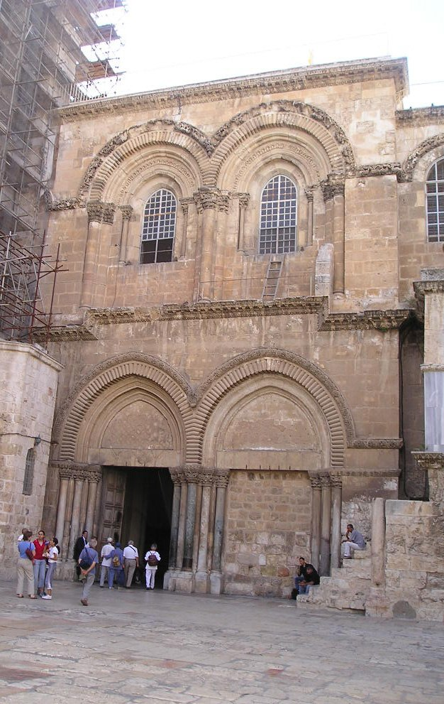 Entrance to Holy Sepulchre