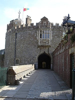 Walmer Castle - Image: Entrance to Walmer Castle geograph.org.uk 237099