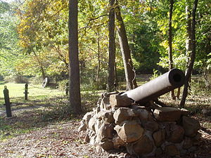 Middlebrook encampment - Entrance to Washington Camp Ground, Middlebrook encampment