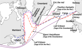 <i>Saga of Erik the Red</i> Icelandic saga about the Norse exploration of North America