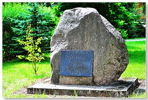 Rudolf Virchow - Memorial stone of Rudolf Virchow in his hometown Świdwin, now in Poland