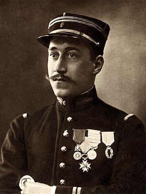 Battle of Rossignol - Ernest Psichari who died during the last stand of the French artillery at Rossignol