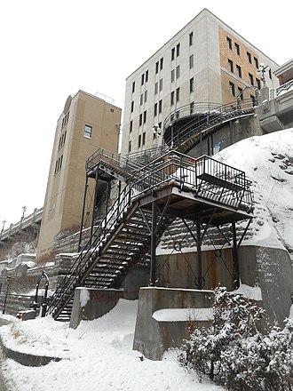 Promontory of Quebec - Image: Escalier du Faubourg 01