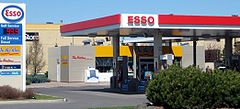 An Esso-branded service station, with On the Run convenience store, in Kanata, Ontario.