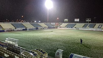 Estadio Francisco Artés Carrasco - The stadium, after a snow storm in January 2017