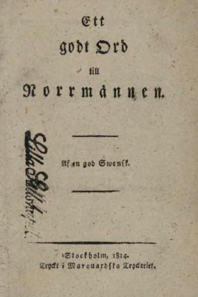 File:Ett godt Ord til Norrmännen.djvu