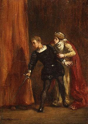 "Gertrude (Hamlet) - ""Hamlet and His Mother"" by Eugène Delacroix"