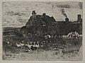 Félix Hilaire Buhot - Thatched Cottages - 1920.711 - Cleveland Museum of Art.jpg