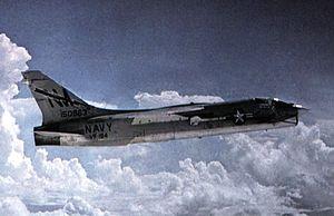F-8J Crusader VF-194 in flight c1972.jpg