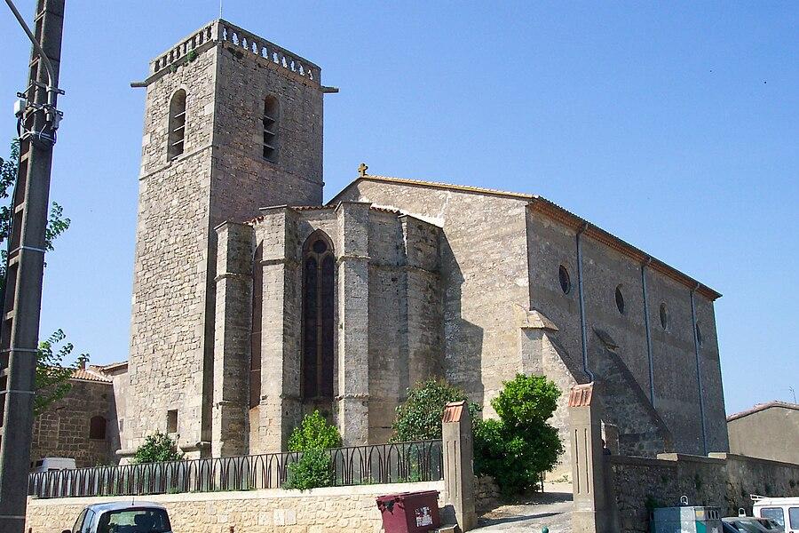 Vendres (Hérault) -  L'église Saint-Étienne