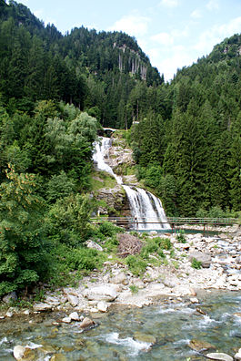 Waterfall near Faido village