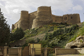 Shapur Khast Castle in Khorramabad