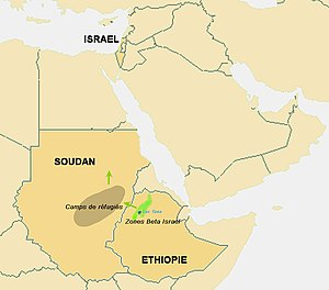 Ethiopian Jews in Israel - Migration map of Beta Israel