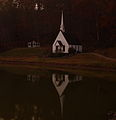Fall church lake reflection evening - West Virginia - ForestWander.jpg