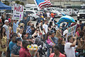 Family members and friends wait to welcome home U.S. Sailors assigned to the amphibious dock landing ship USS Pearl Harbor (LSD 52) in San Diego after returning from a four-month deployment Aug. 26, 2013 130826-N-ZU025-102.jpg