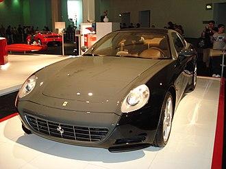 Italian design - A Ferrari 612 Scaglietti Sessanta Edition. Ferraris are amongst Italy's most iconic supercars.