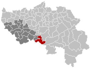 Ferrières, Belgium - Image: Ferrières Liège Belgium Map