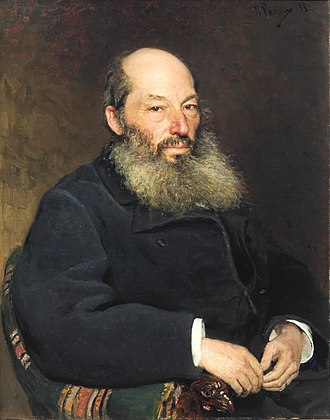 Afanasy Fet - Portrait by Ilya Repin