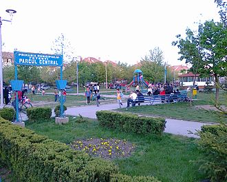 Ialomița County - The central park of Fetești