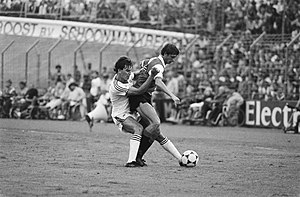Steve Coppell - Coppell playing against Johan Cruyff (1983)