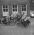 Fietsende persconferenties over Leidsestraatroute voor fietsers, Bestanddeelnr 911-6443.jpg