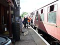Finghall Lane railway station, train to Bedale, Wensleydale Railway, Yorkshire. 1940's Day.jpg