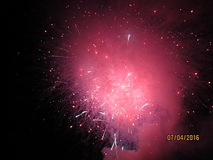 Independence Day (United States) - Fireworks on Independence Day in Goleta, California.